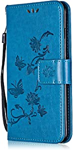 Galaxy Note Ultra Slim Case  Bear Village  Leather Flip Folio Cover Wallet Shock-Proof Protective Case with Credit Card Slot for Samsung Galaxy Note   1 Blue
