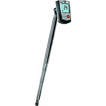 Testo 0560 4053 405 Thermo-Anemometer, mit Kanalhalterung, inklusive Befestigungs-Clip und Batterien