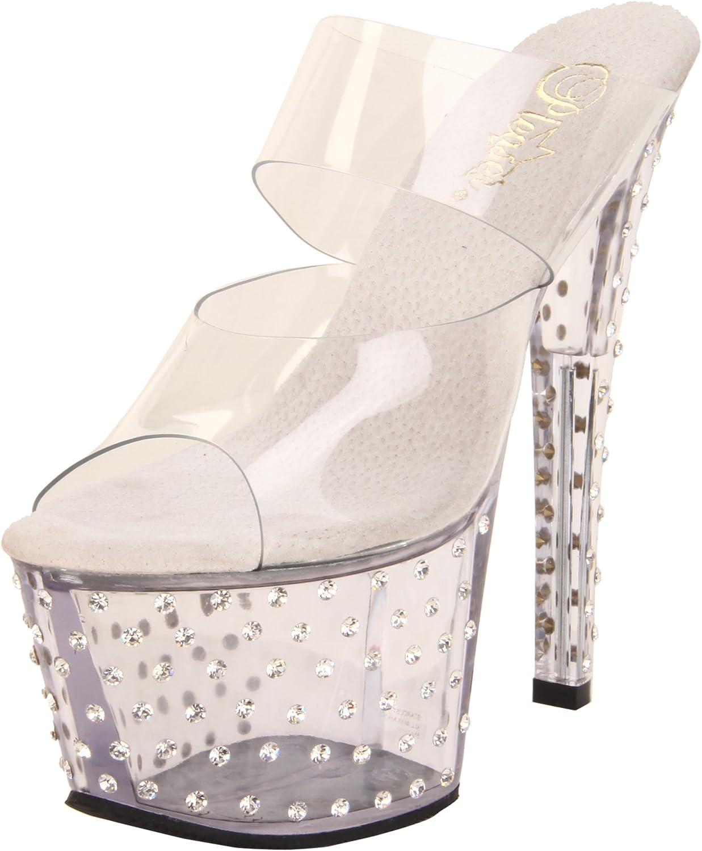 Pleaser Women's Stardust-702 C M Platform Sandal