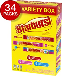 STARBURST Fruit Chews 3 Flavor Variety Pack Original, FaveREDS & Duos Flavors 70.38-Ounce (Pack of 36)