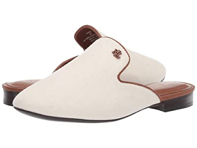 LAUREN Ralph Lauren Cadee (Artist Cream/Deep Saddle Tan Canvas/Burn Calf) Women