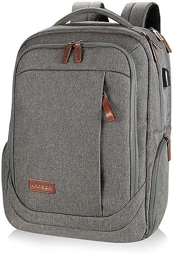 Sac à dos pour ordinateur portable Grand sac à dos pour ordinateur portable de 15,6 à 17,3 pouces avec port de charge USB Sac à dos de voyage scolaire déperlant pour hommes d'affaires Collège Femm
