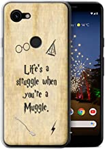 eSwish Gel TPU Phone Case/Cover for Google Pixel 3a XL/Life's a Struggle Design/School of Magic Film Quotes Collection
