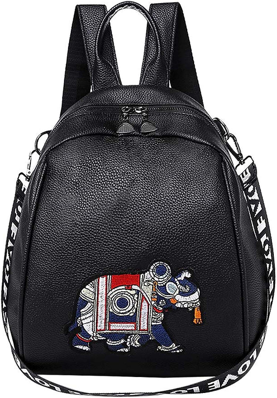 Padgene Women's Fashion Elephant Patch Shell Bags Shoulder Bags Mini Backpack Purse