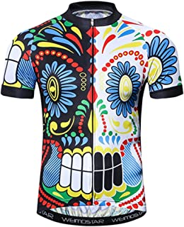 Weimostar Men's Cycling Jersey Short Sleeve Biking Shirts Bike Clothing Bicycle Jacket with Pockets Breathable