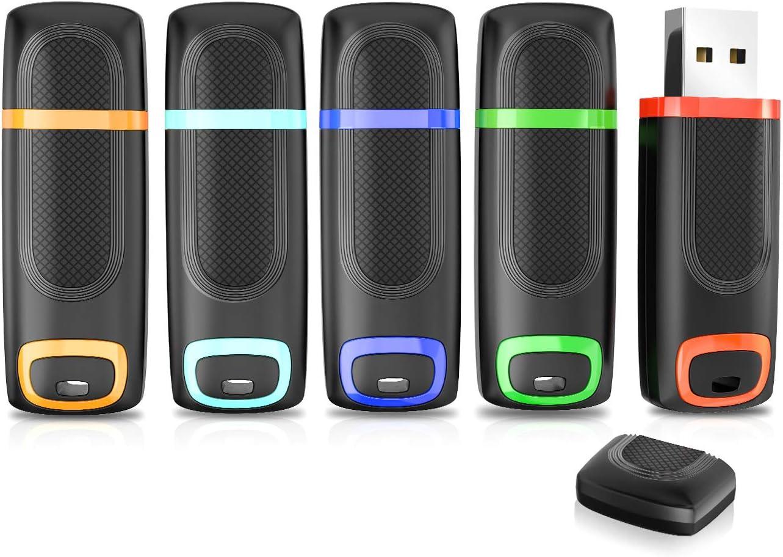 Vansuny - Memoria USB 3.0 64 GB, 5 Unidades, Alta Velocidad, Pendrive USB 64GB con indicador LED y Tapa para PC, Desktop, Portátil, Consolas de Juegos
