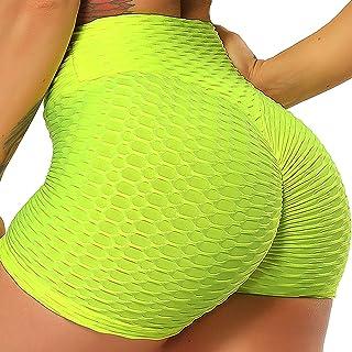 INSTINNCT Damen Sportshort Kurz Leggings Hohe Taille mit Bauchkontrolle Short