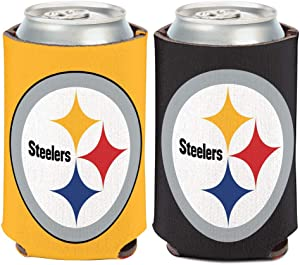 WinCraft Pittsburgh Steelers Logo 2-Sided Can Cooler 12 oz.