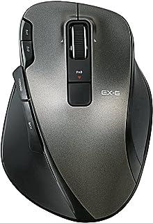 エレコム ワイヤレスマウス 無線 2.4GHz レーザー 8ボタン チルトホイール Lサイズ ブラック M-XG3DLBK
