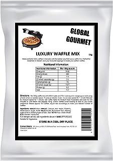 Mezcla de gofres de lujo belga de lujo Global Gourmet 1KG Mezcla lista completa para gofres belgas y de Lieja Valor rápido y delicioso