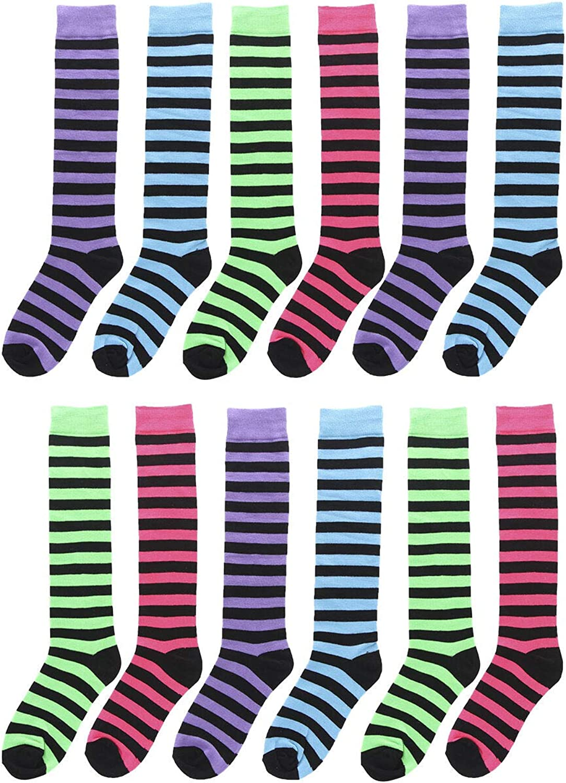 12 Pairs Knee High Socks Women Save money Uniform Bargain School Size Girl 9-1 Lady
