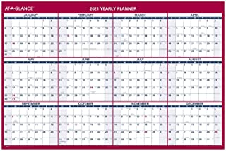 "$31 » 2021 Erasable Calendar, Dry Erase Wall Planner by AT-A-GLANCE, 48"" x 32"", Jumbo, Vertical/Horizontal, Reversible (PM3262821)"