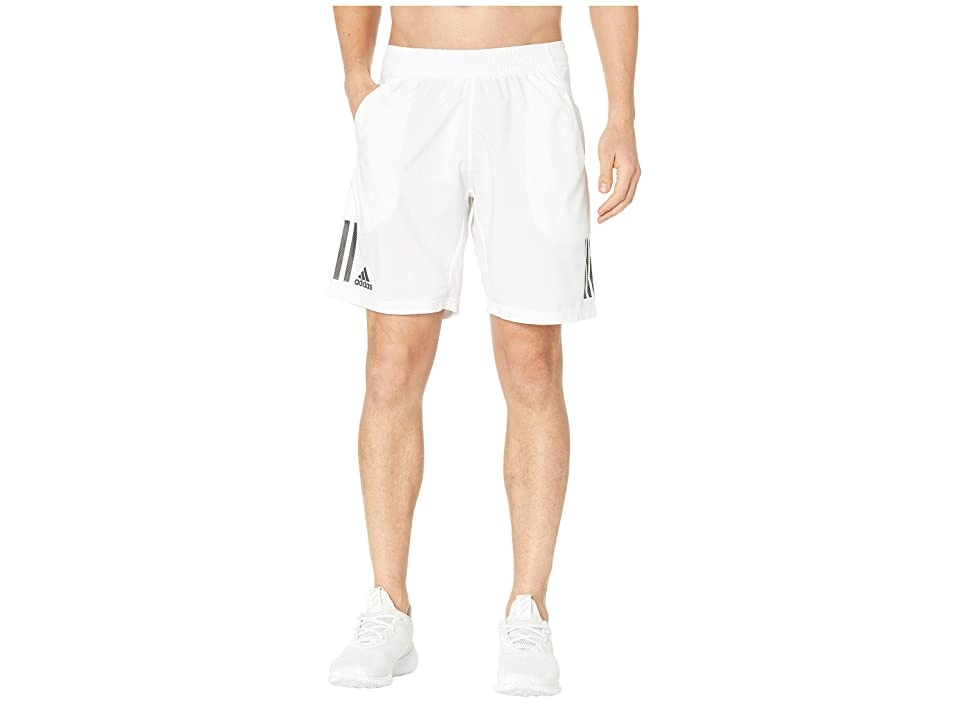 adidas Club 3-Stripes Shorts 9 (White/Black) Men's Shorts