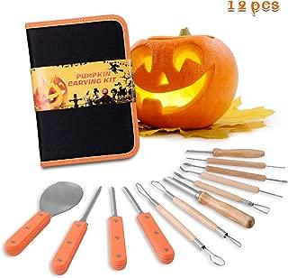 Kearui Pumpkin Carving Kit, Includes 12 Pcs Stainless Steel As a Carving Set for Pumpkin Halloween Decoration Easily Sculpting Jack-O-Lanter Pumpkin Decorating Kits