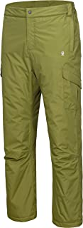 Little Donkey Andy Men's Waterproof Ski Snow Pants Quilted Insulated Lightweight Winter Snowboarding Outdoor Pants