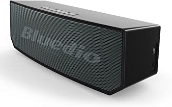 Bluedio BS-5 (Camel) Portable Bluetooth Wireless Stereo Speaker with Microphone for Calls (Black)