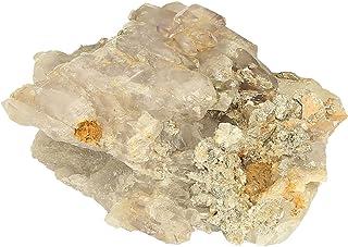 Cristal de roca, amatista, cuarzo ahumado con mica, 63 x 96 x 52 mm