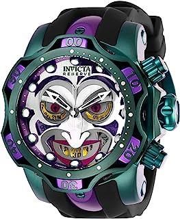 Men's DC Comics Quartz Diving Watch with Stainless Steel, Silicone, Aluminium Strap, Black, Purple, Green, 26 (Model: 26790)
