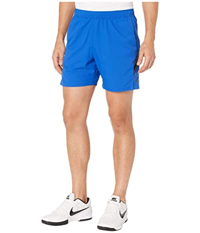 Nike NikeCourt Dry Shorts 7 (Game Royal/Black/Black) Men