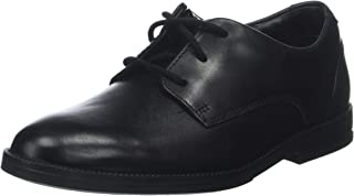 Clarks Boy's Rufus Edge Black Leather Formal Shoes