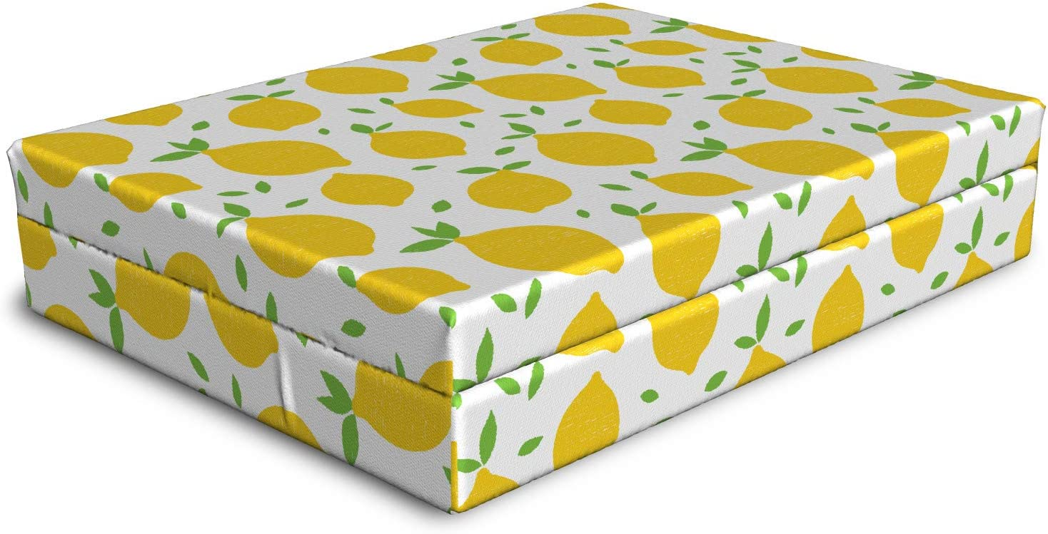Ambesonne Lemons Weekly update Dog Bed Continuous Modern Summer Themed depot Tasty