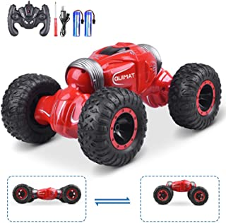 Updated Remote RC Car, Quimat 2.4GHz Off- Road Control Track Stunt Car for Kids and Adults, Double-Sided Drive 4WD Dual Mo...