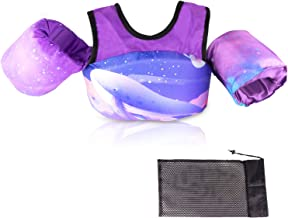 Kids Pool Floats, Swim Vest, Foldable Swim Vest Jacket with Storage Bag, Suitable for Children Aged 2, 3, 4, 5, 6, and 7 t...