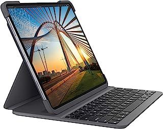 Logitech Funda con teclado Bluetooth retroiluminado Logitech SLIM FOLIO PRO para iPad Pro de 12,9 pulgadas (3.ª y 4.ª generación), color Gris