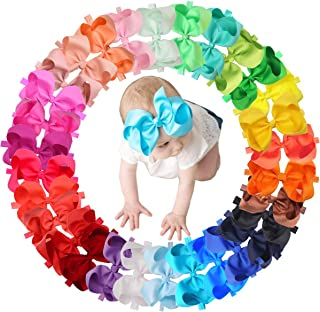 30 Colors Baby Girls Headbands 6Inch Big Hair Bows Elastic Hair Bands Headbands Hair Accessories for Newborns Infants Todd...