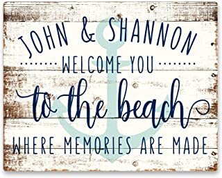 personalized beach house signs