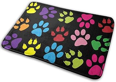 """Transparent Cat Paw Print Clipart Indoor Doormat Front Back Door Mat,23.6""""x15.8"""" Mat Non Slip Large Door Rug"""