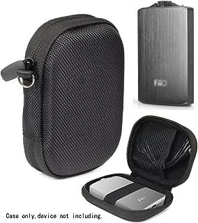 Headphone Amplifier Case for FiiO A3, FiiO Q1, Creative Sound Blaster E1, E3, Topping NX1s, SMSL Audio Sap-5, mesh Pocket for Cable, Fastening Elastic Strap, Wrist Strap Ballistic Black