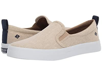 Sperry Crest S/O Sparkle Linen (Champagne) Women