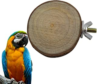 Nature Wood Bird Cage Accessories Wooden Parrot Perches Stand Platform Squirrel Hamster springboard Pet Parakeet Budgie Ha...