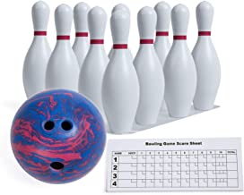 Champion Sports Bowling Set: Rubber Ball & Plastic Pins for Training & Kids Games, Model:BPSET