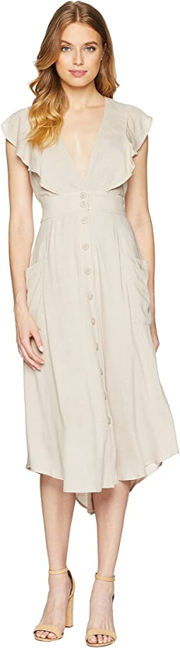 Kelsey Woven Button Up Dress