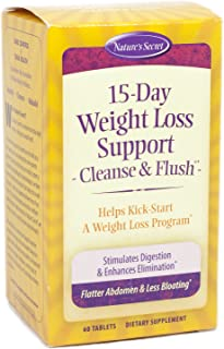 15-Day Cleanse & Flush by Nature's Secret| Reduces Bloating and Stimulates Digestion, Healthy Weight Management, 60 Tablets