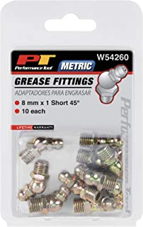 Performance Tool W54260 8mm x 1mm Short 45⁰ Grease Fitting, (Pack of 10)