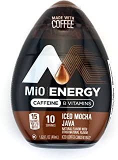 MiO Energy Iced Mocha Java Iced Coffee Concentrate 1.62 fl. oz. (Pack of 24)
