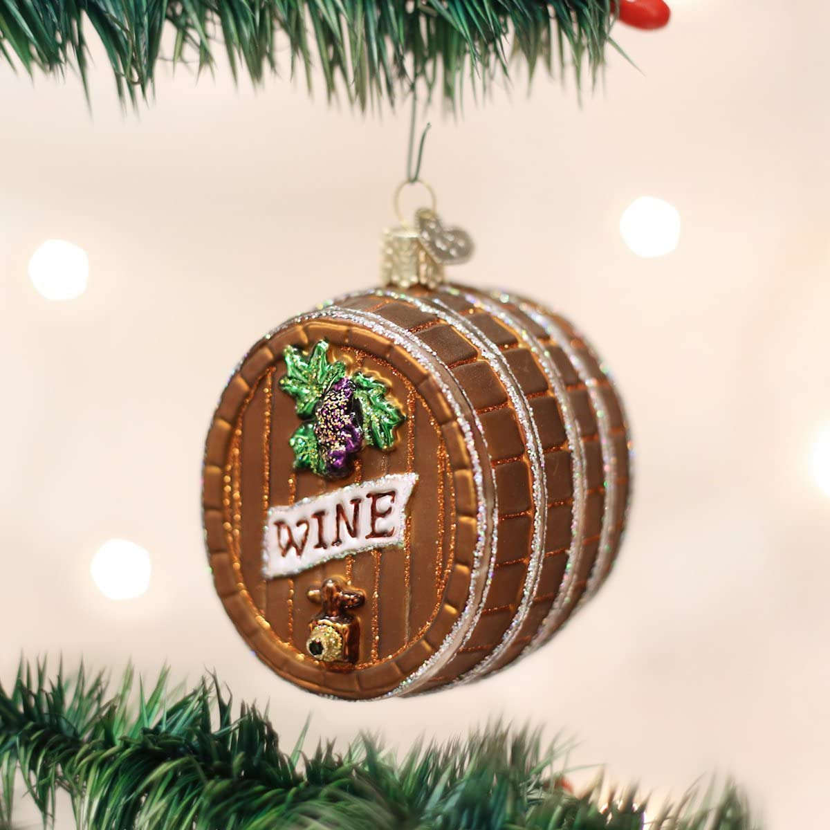 Old World Christmas Adult Beverages Glass Blown Ornaments for Christmas Tree White Wine