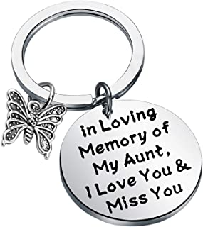 BEKECH in Loving Memory of My Dad Heart Pendant Keychain Dad Memorial Jewelry Sympathy Gift Remembrance Keyring Gift