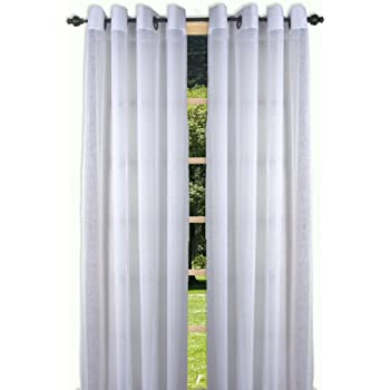 Sage 07500 Ricardo Trading Bal Harbor Textured Semi-Sheer Grommet Patio Panel with Pull Wand 106 by 84-Inch
