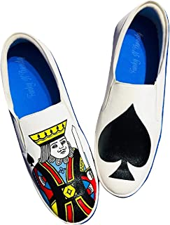 FUNKY N TRENDY King Theme Hand Painted Waterproof Canvas Casual Shoes