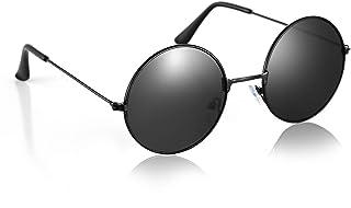 Komonee Style John Lennon Noir Rond Des Lunettes De Soleil UV400 Protection