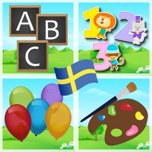 Svenska bokstäver, siffror och färger Free