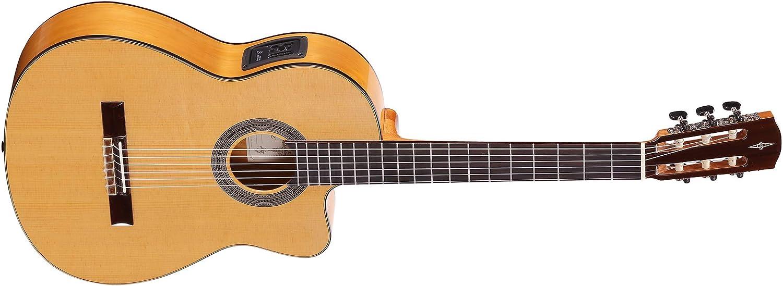 Alvarez CF6CE - Guitarra clásica flamenca de hombro faltante eléctrica
