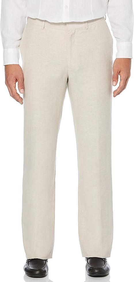 Cubavera Pantalon De Vestir Para Hombre De Facil Cuidado Mezcla De Lino Amazon Com Mx Ropa Zapatos Y Accesorios
