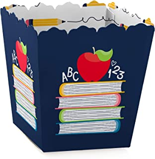 Big Dot of Happiness Back to School - Party Mini Favor Boxes - First Day of School Classroom Decorations and Treat Candy Boxes - Set of 12