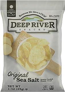 Deep River Snacks Original Sea Salt Kettle Cooked Potato Chips, 1-Ounce (Pack of 80)