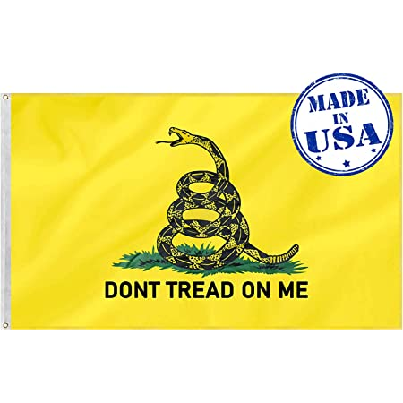 3X5 Dont Tread On Me Black Flag Banner Gadsden Tea Party FAST USA SHIPPING